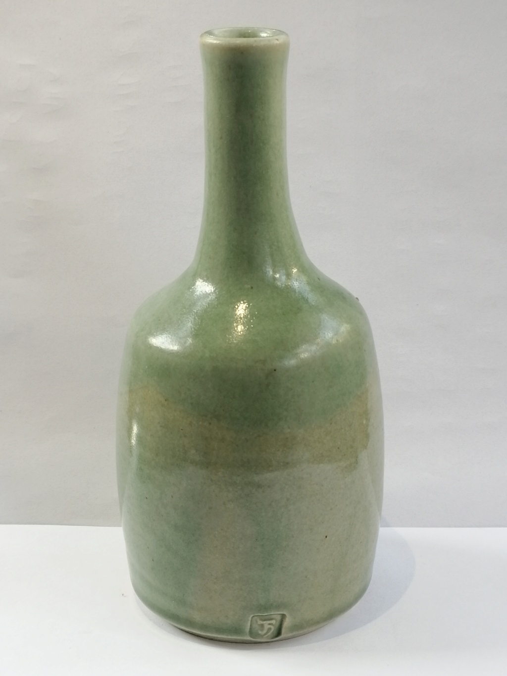 Need ID help on this celadon bottle vase with JH mark  Img_2075