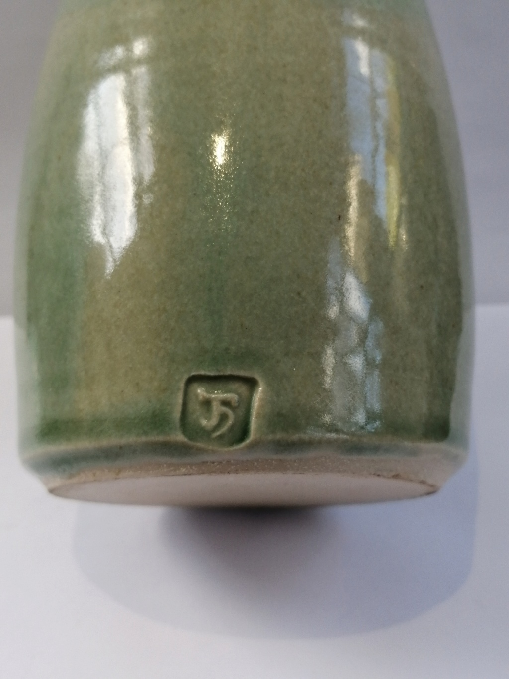 Need ID help on this celadon bottle vase with JH mark  Img_2076