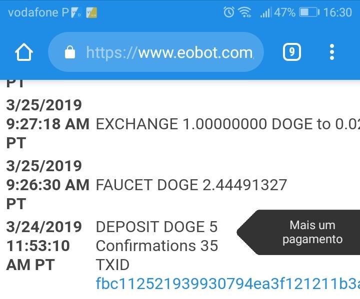 Oportunidade (Testar) Dogefaucet e Stellarfaucet - apps que pagam em menos de 5 minutos  Img_2024