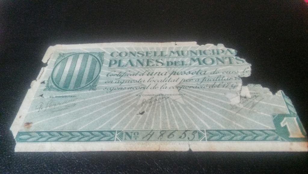 1 Peseta de Les Planes del Montsia, 1937 20190510