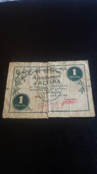 1 Peseta Alfara, 1937 20190521
