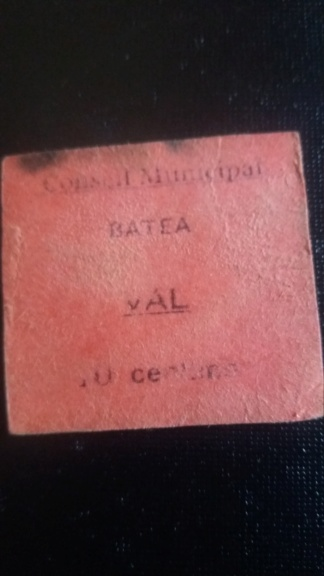 Duda posible billete 10 Céntimos Batea 20190523