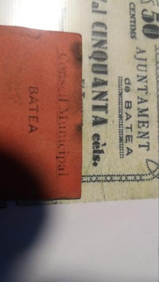 Duda posible billete 10 Céntimos Batea 20190525