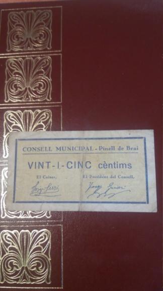 25 Cèntims Pinell de Brai, 1937 20190610