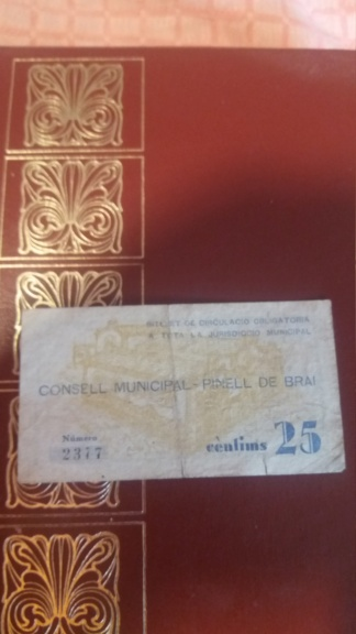 25 Cèntims Pinell de Brai, 1937 20190611