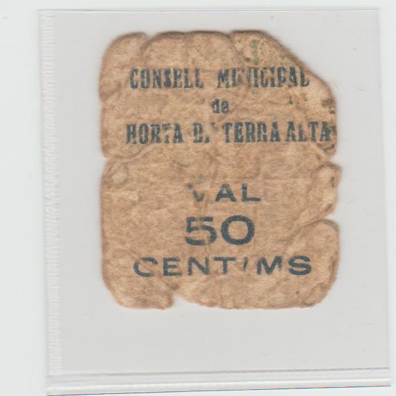50 Cèntims Horta de Terra Alta, 1937 50_ct10
