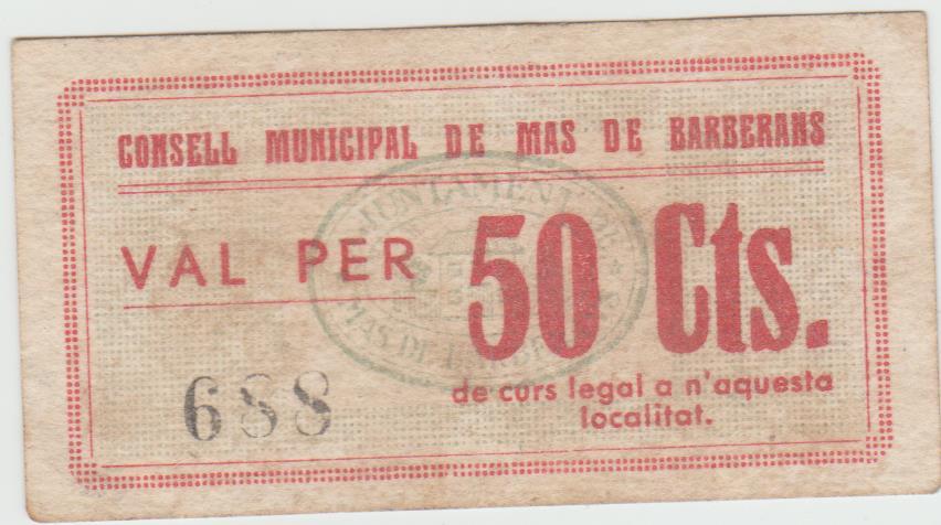 50 Céntimos Mas de Barberans 1937 50_cts11