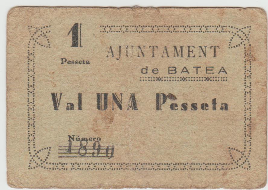 1 Peseta Batea, 1937 Batea10