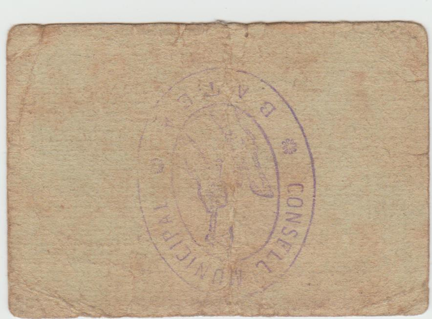 1 Peseta Batea, 1937 Batea110