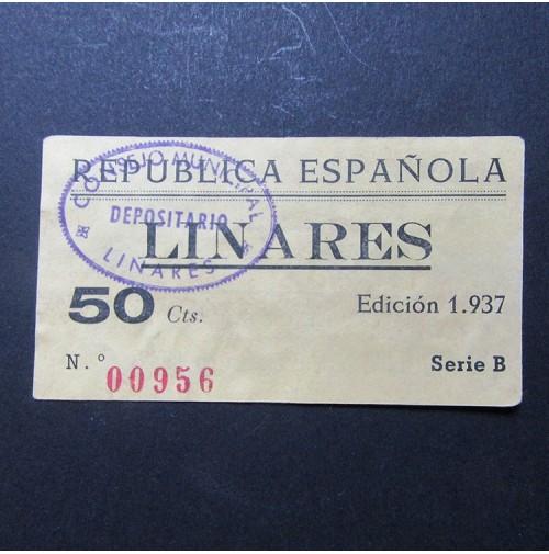 25 Céntimos Linares, 1937 Billet10