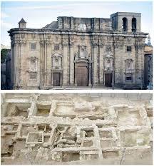 Hallan nuevos restos romanos delante de la catedral de Tortosa Catedr10