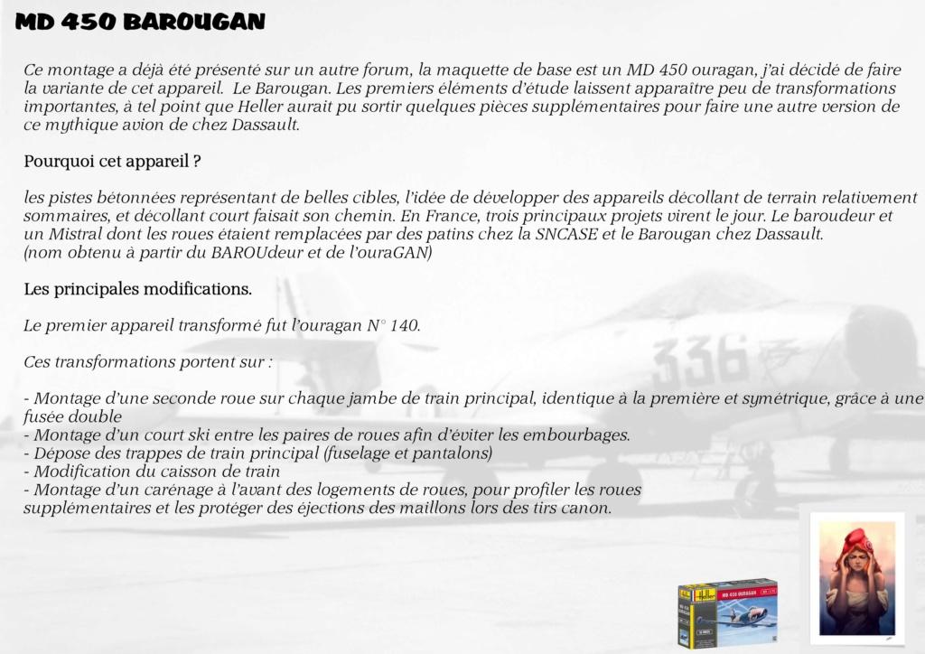 DASSAULT MD450 OURAGAN - CONVERSION BAROUGAN - 1/72  00110