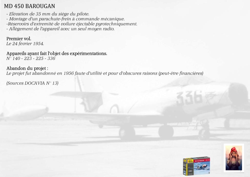DASSAULT MD450 OURAGAN - CONVERSION BAROUGAN - 1/72  00210