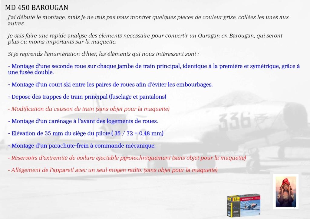 DASSAULT MD450 OURAGAN - CONVERSION BAROUGAN - 1/72  00310