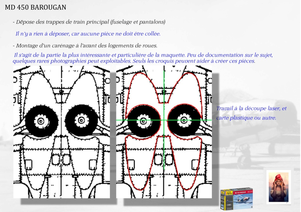 DASSAULT MD450 OURAGAN - CONVERSION BAROUGAN - 1/72  00610
