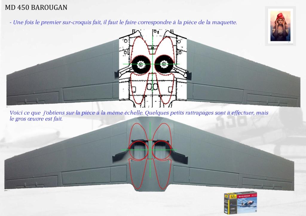 DASSAULT MD450 OURAGAN - CONVERSION BAROUGAN - 1/72  00710