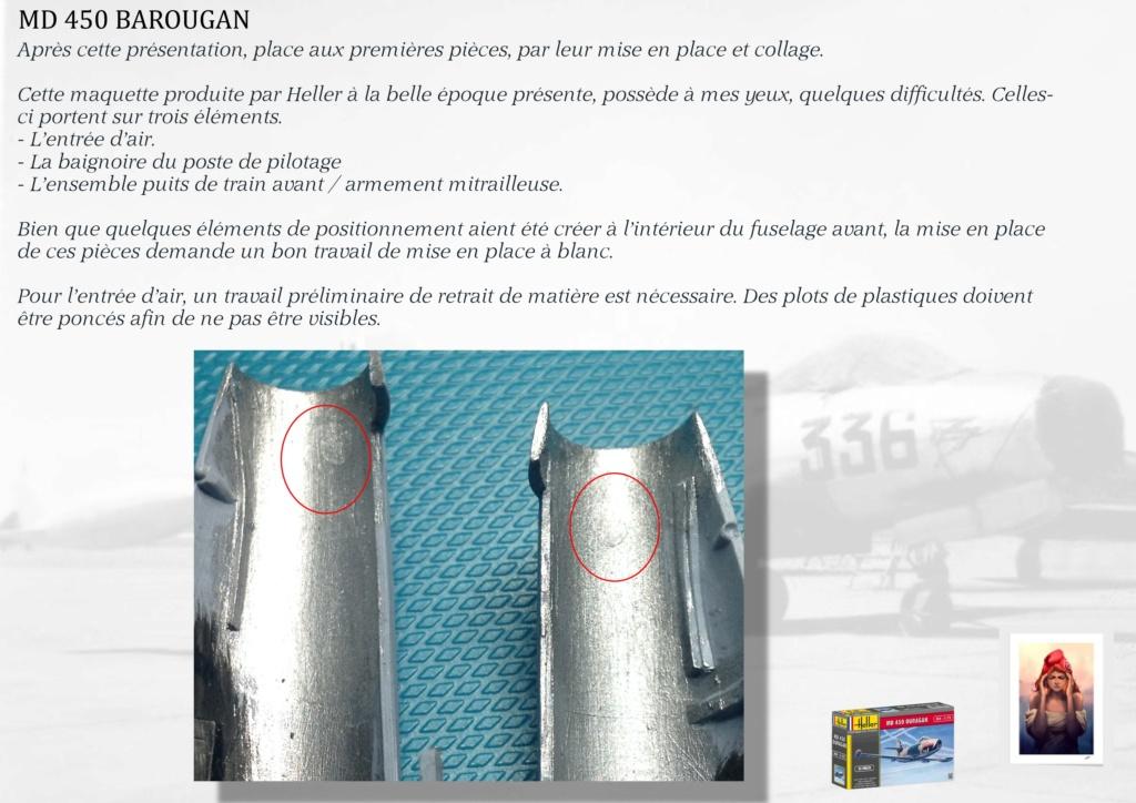 DASSAULT MD450 OURAGAN - CONVERSION BAROUGAN - 1/72  01010