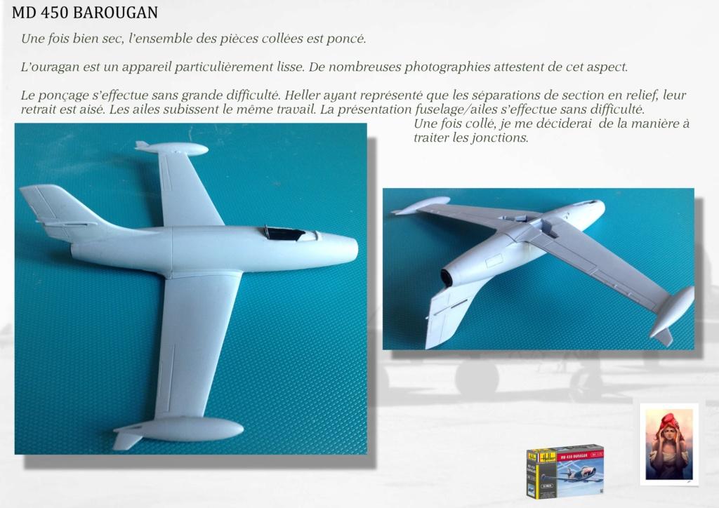 DASSAULT MD450 OURAGAN - CONVERSION BAROUGAN - 1/72  01910
