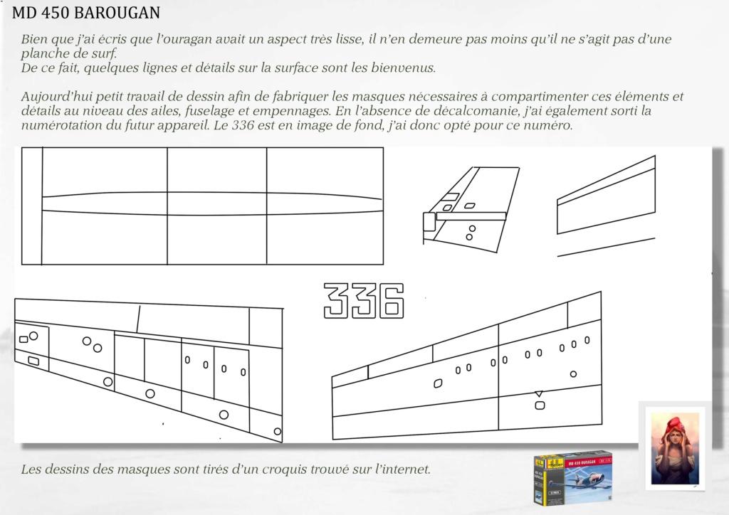 DASSAULT MD450 OURAGAN - CONVERSION BAROUGAN - 1/72  02010