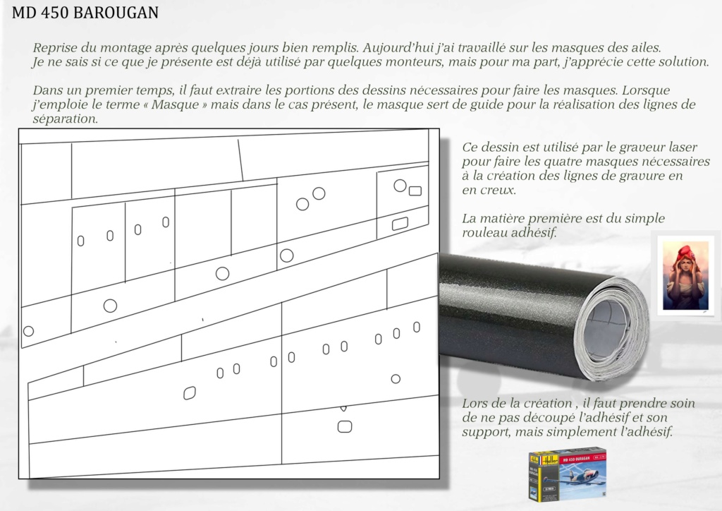 DASSAULT MD450 OURAGAN - CONVERSION BAROUGAN - 1/72  02110