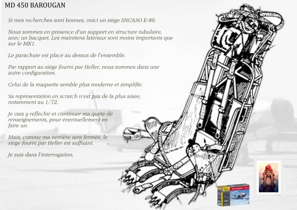 DASSAULT MD450 OURAGAN - CONVERSION BAROUGAN - 1/72  02810