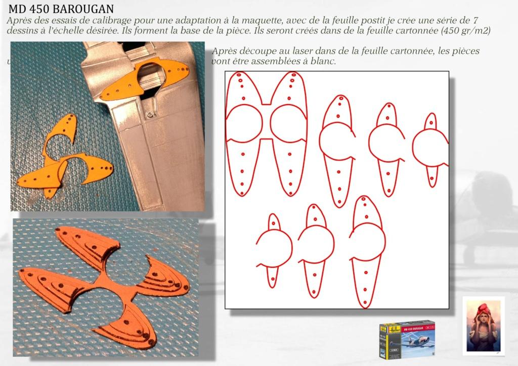 DASSAULT MD450 OURAGAN - CONVERSION BAROUGAN - 1/72  05110
