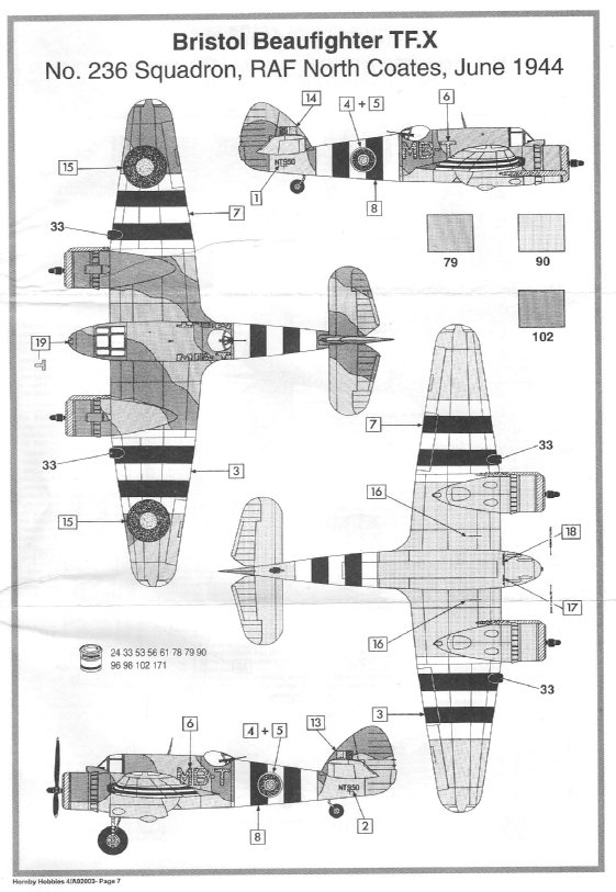 From the box - BRISTOL BEAUFIGTHER TF-X - AIRFIX - 1/72 - Terminé en page 4 10933612