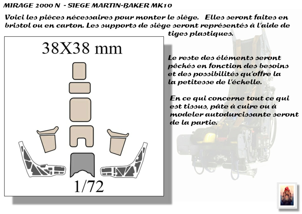 Sièges Martin-Baker MK10 - Scratch - 1/72 - Mirage 2000 N A_sieg12