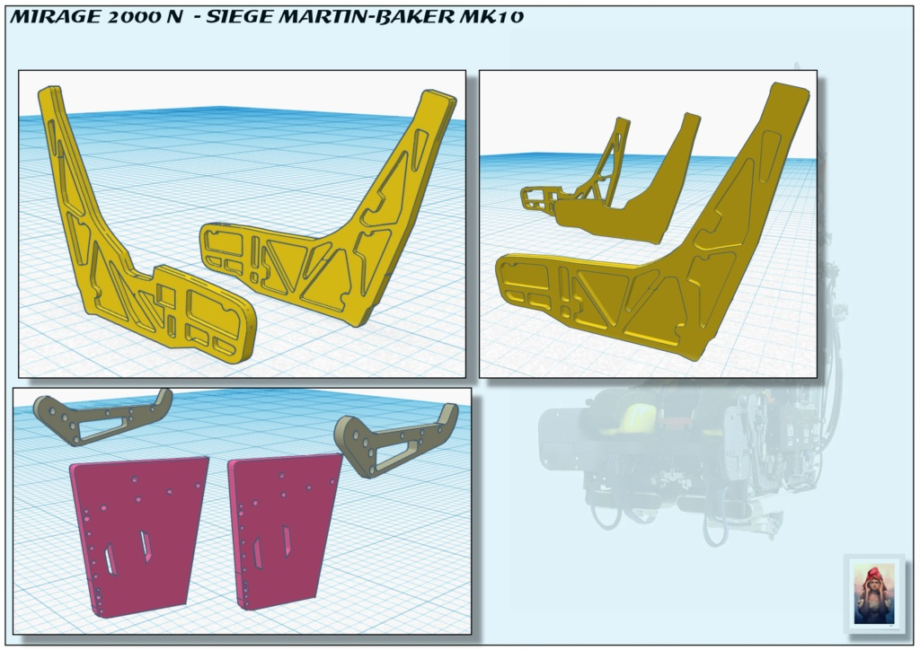 Sièges Martin-Baker MK10 - Scratch - 1/72 - Mirage 2000 N A_sieg15
