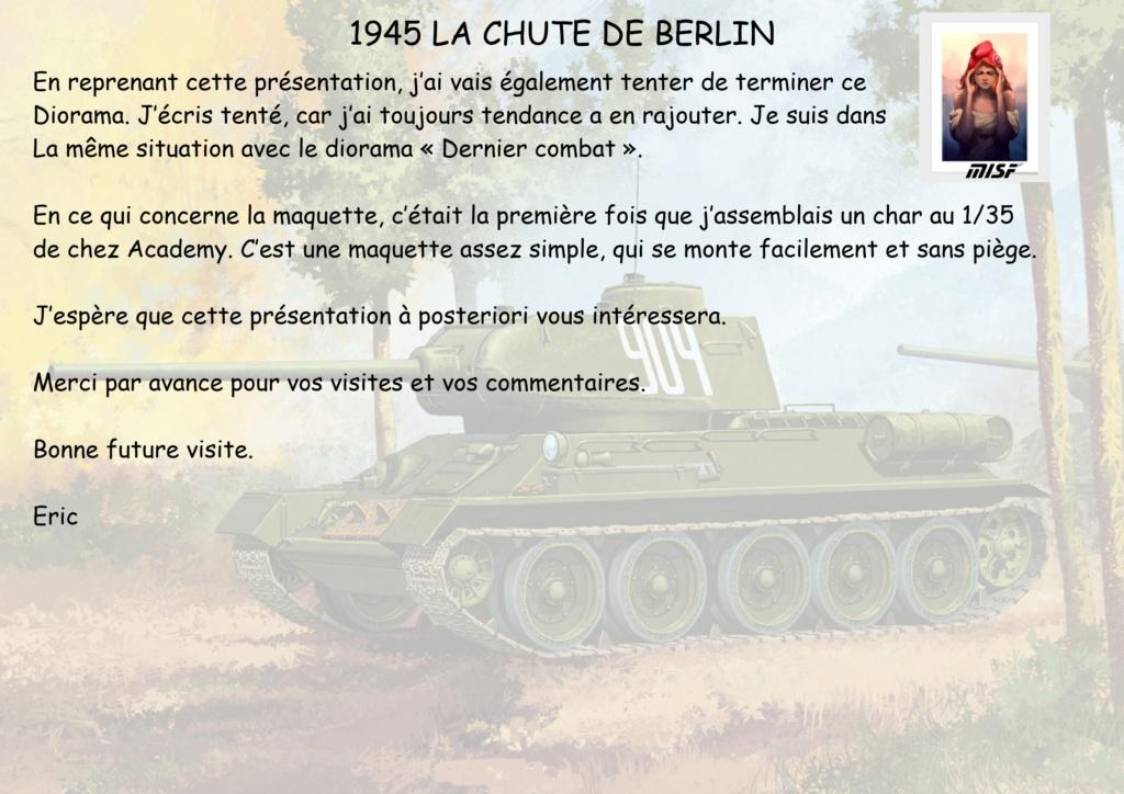 """1945 LA CHUTE DE BERLIN""  - T34 ACADEMY - JEEP ITALERI - FIGURINES TAMIYA 1/35  Cdb_0010"