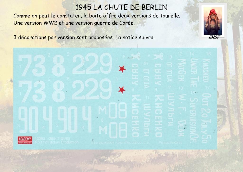 """1945 LA CHUTE DE BERLIN""  - T34 ACADEMY - JEEP ITALERI - FIGURINES TAMIYA 1/35  Cdb_0014"