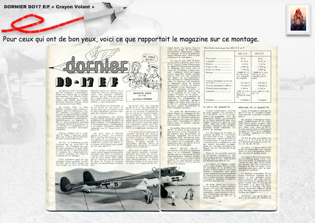 Fil rouge 2020 : [Airfix] Dornier DO17 E - 1/72 - Réf : 04014-1 Dornie14