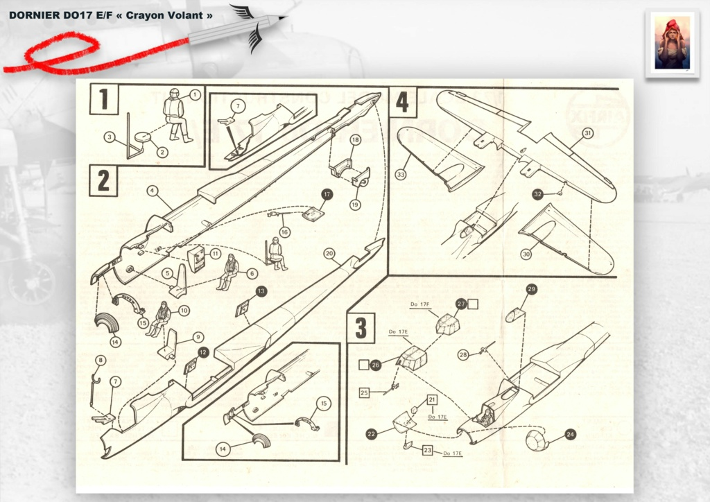 Fil rouge 2020 : [Airfix] Dornier DO17 E - 1/72 - Réf : 04014-1 Dornie20