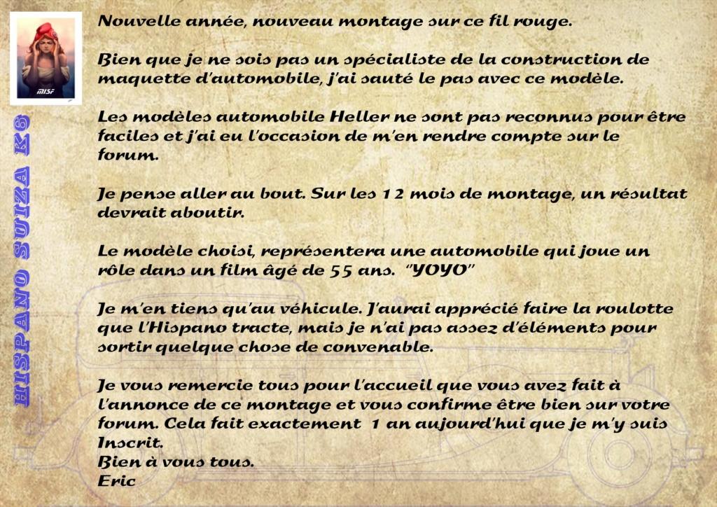 Fil rouge 2021 * Hispano Suiza K6 - Heller 1/24 - Réf : 80704 - Version film Yoyo Hisp_012