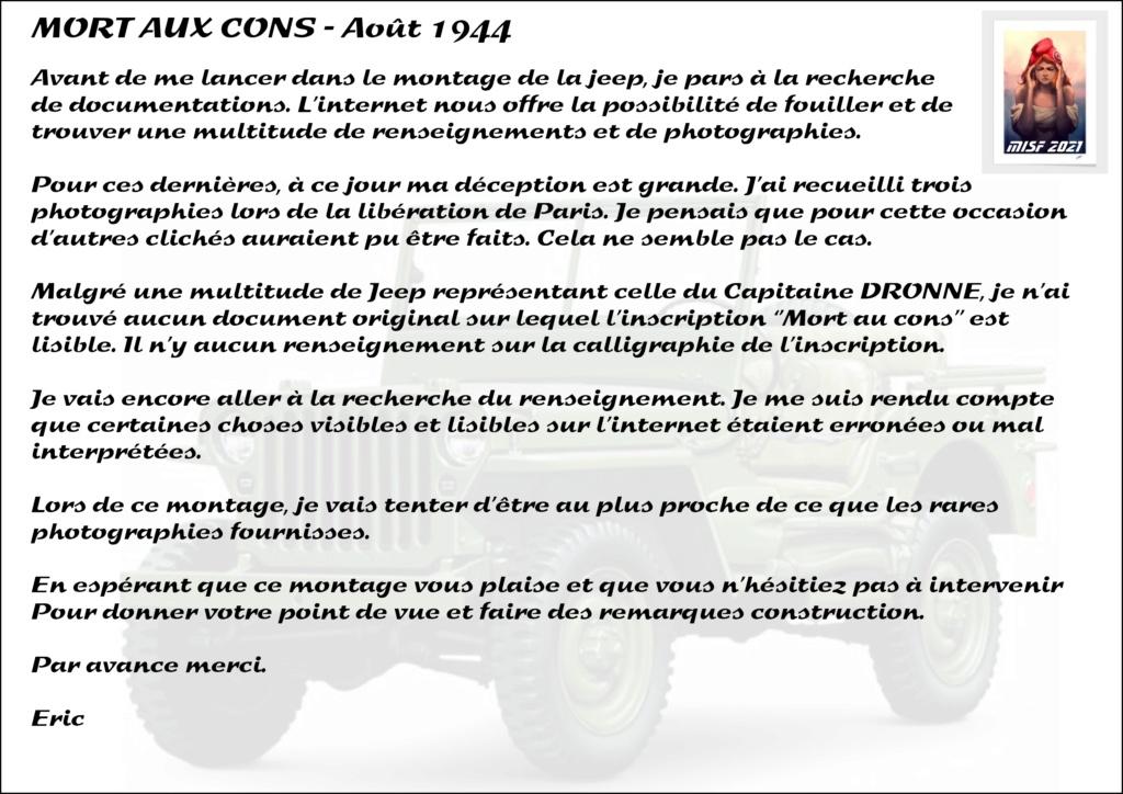 JEEP - 2EME DB - CAPITAINE DRONNE - MORT AUX CONS - ITALERI 1/35 Jeep_d13