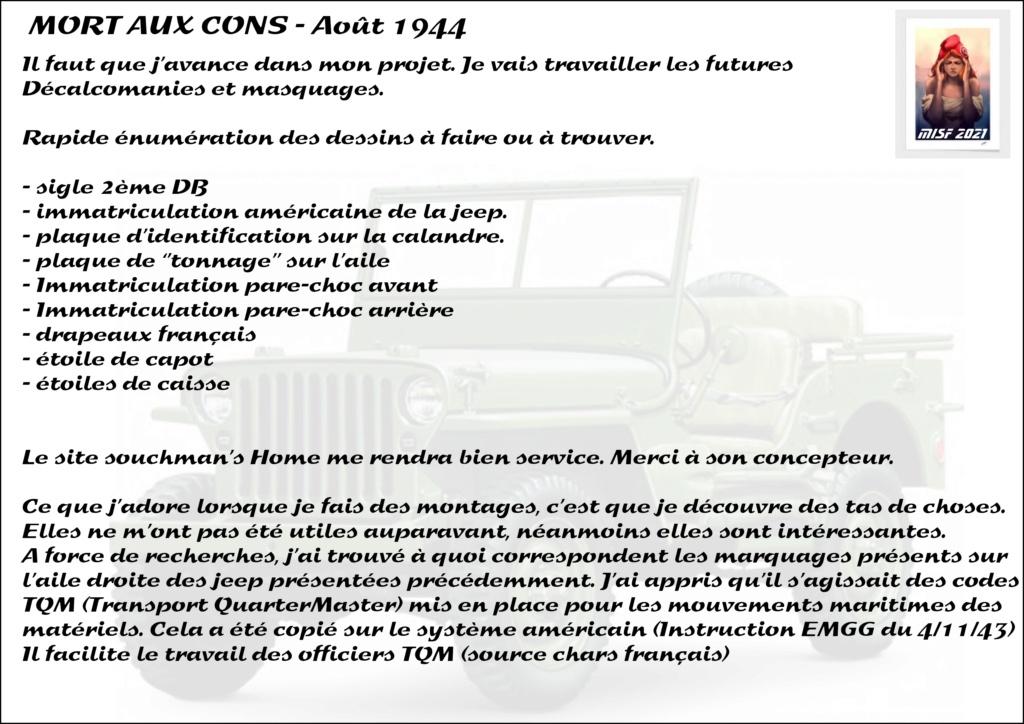 JEEP - 2EME DB - CAPITAINE DRONNE - MORT AUX CONS - ITALERI 1/35 - Page 2 Jeep_d20