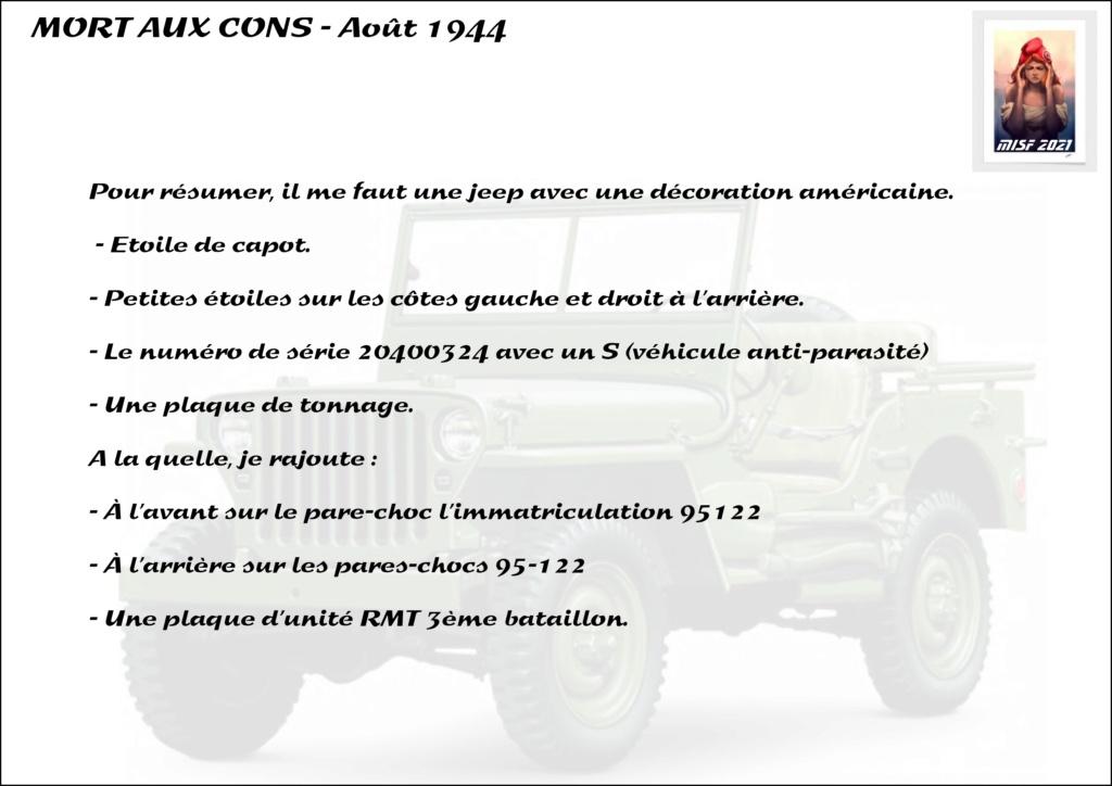 JEEP - 2EME DB - CAPITAINE DRONNE - MORT AUX CONS - ITALERI 1/35 - Page 2 Jeep_d35