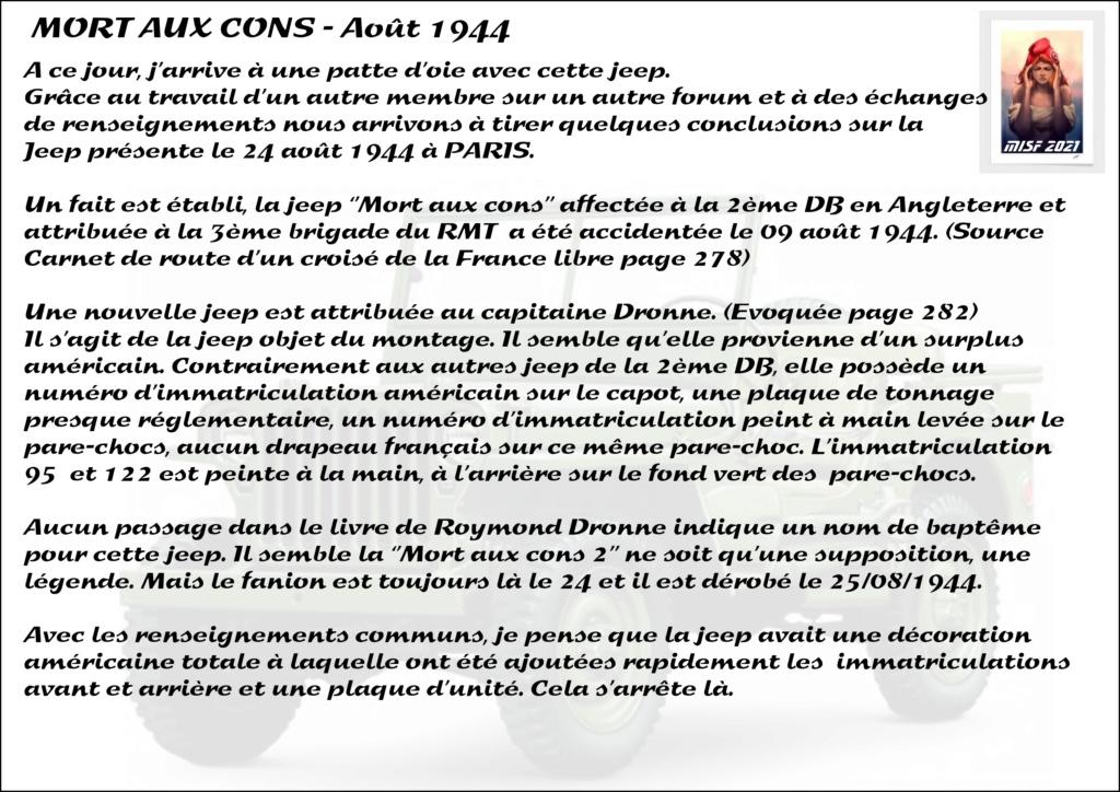 JEEP - 2EME DB - CAPITAINE DRONNE - MORT AUX CONS - ITALERI 1/35 - Page 2 Jeep_d36