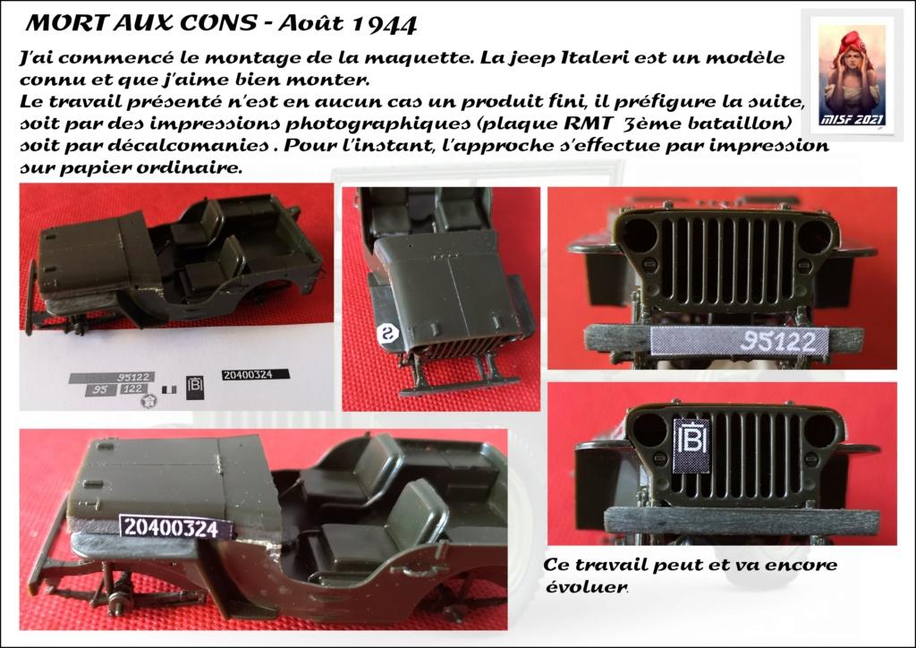 JEEP - 2EME DB - CAPITAINE DRONNE - MORT AUX CONS - ITALERI 1/35 - Page 2 Jeep_d37