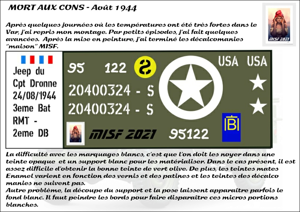 JEEP - 2EME DB - CAPITAINE DRONNE - MORT AUX CONS - ITALERI 1/35 - Page 5 Jeep_d63