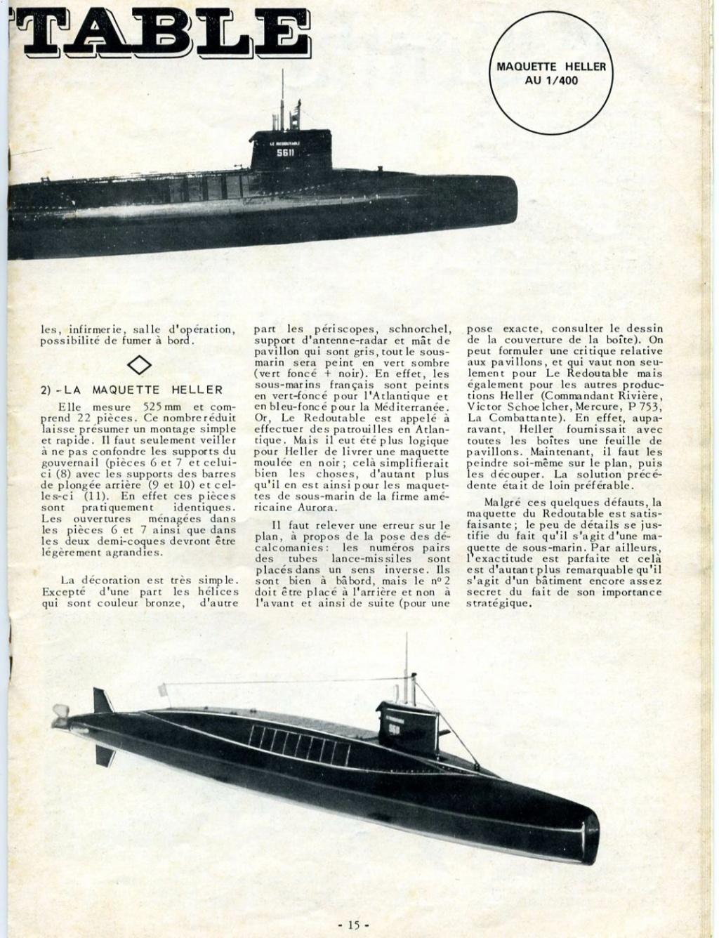 Sous-marin Nucléaire Lanceur d Engins SNLE Le REDOUTABLE 1/400ème Réf 57075 - Page 2 Maque175