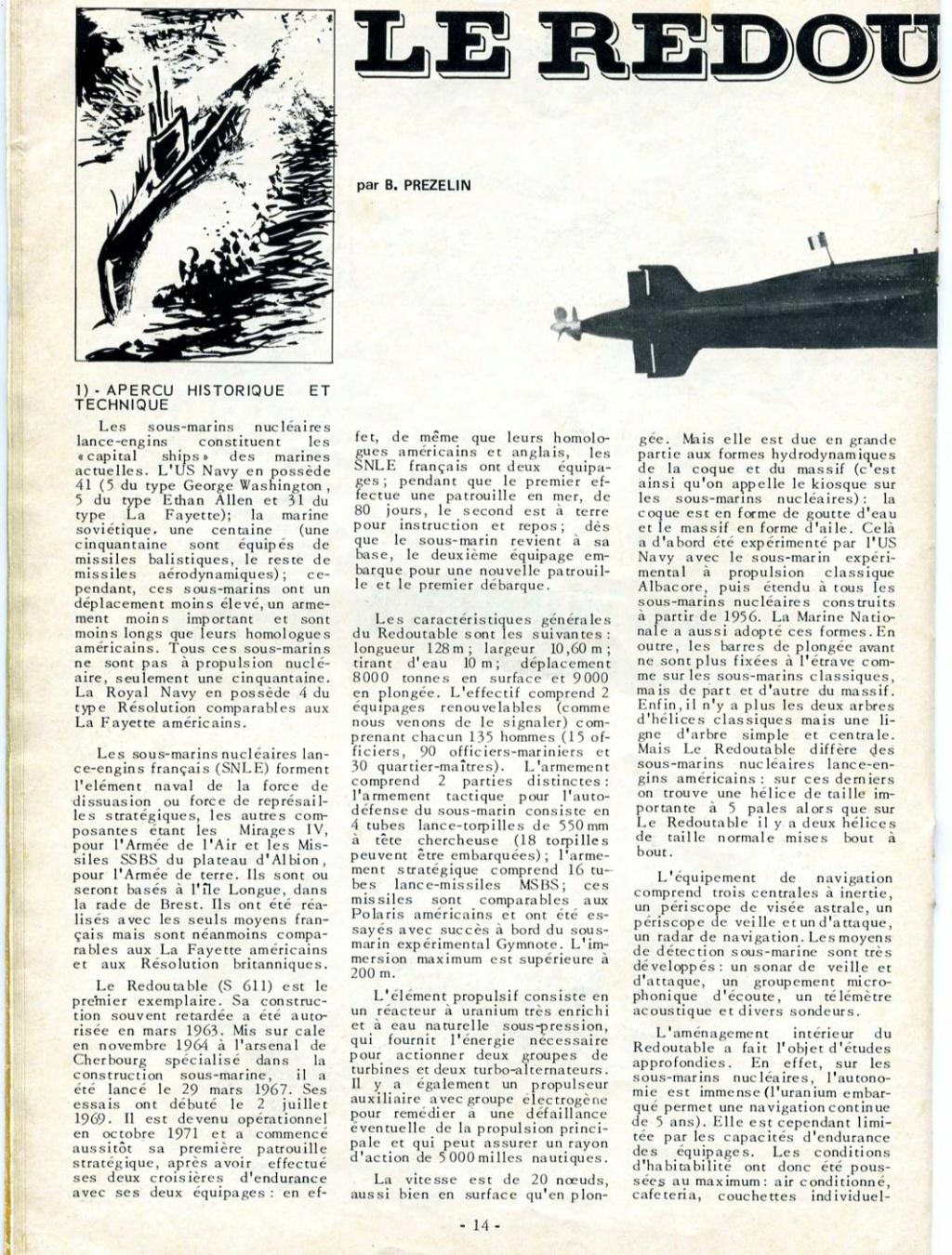 Sous-marin Nucléaire Lanceur d Engins SNLE Le REDOUTABLE 1/400ème Réf 57075 - Page 2 Maque176