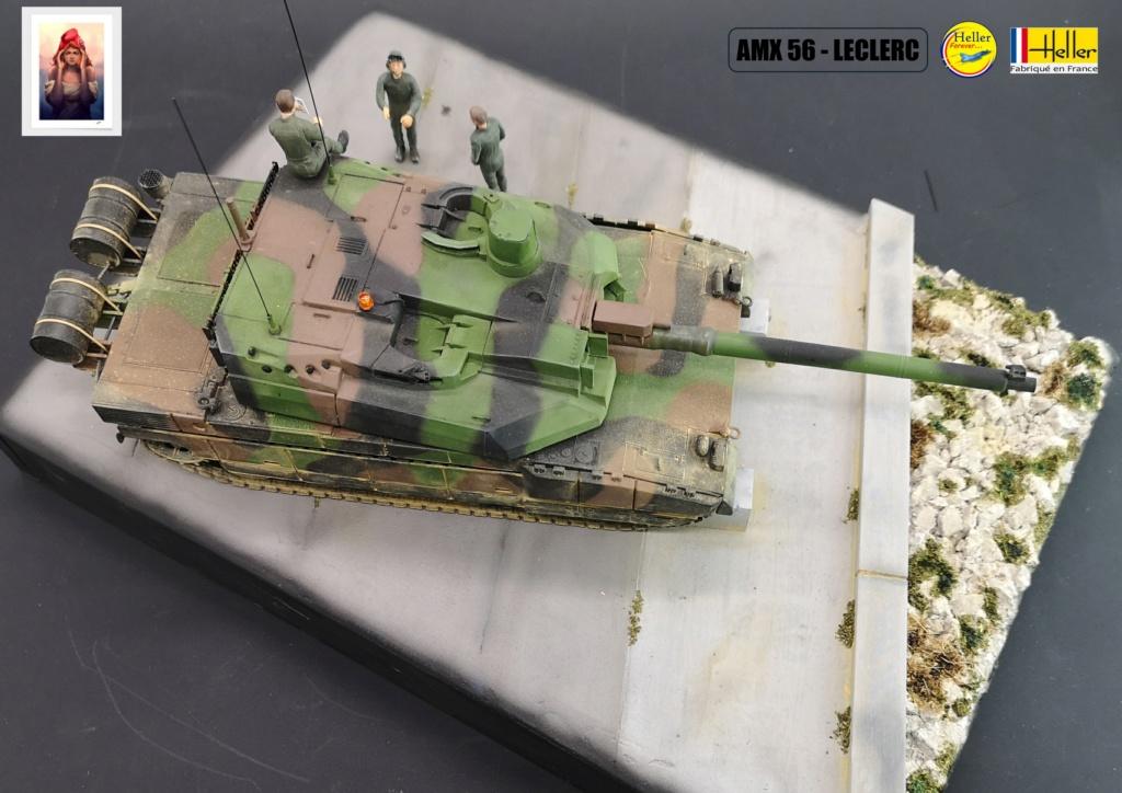 Char AMX 56 LECLERC SERIE 1 au pas de tir Réf 81135  Maquet85