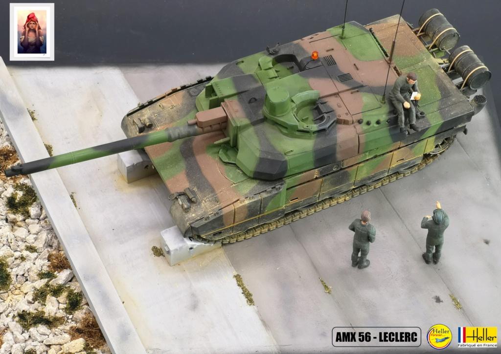 Char AMX 56 LECLERC SERIE 1 au pas de tir Réf 81135  Maquet86