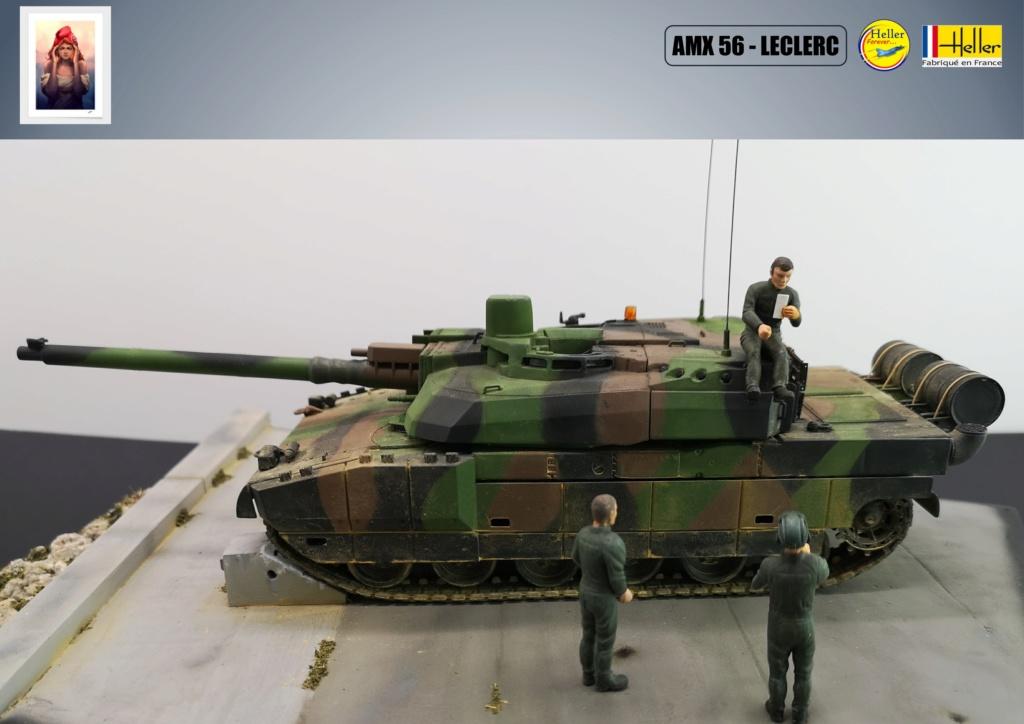Char AMX 56 LECLERC SERIE 1 au pas de tir Réf 81135  Maquet87