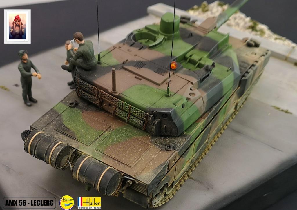 Char AMX 56 LECLERC SERIE 1 au pas de tir Réf 81135  Maquet88