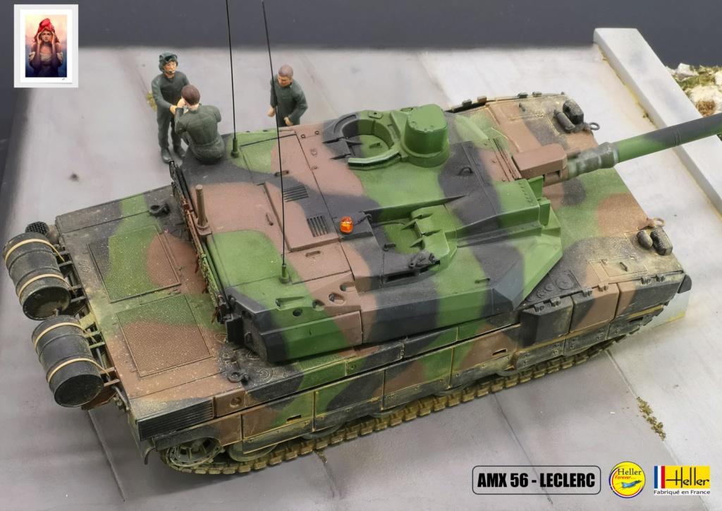 Char AMX 56 LECLERC SERIE 1 au pas de tir Réf 81135  Maquet89