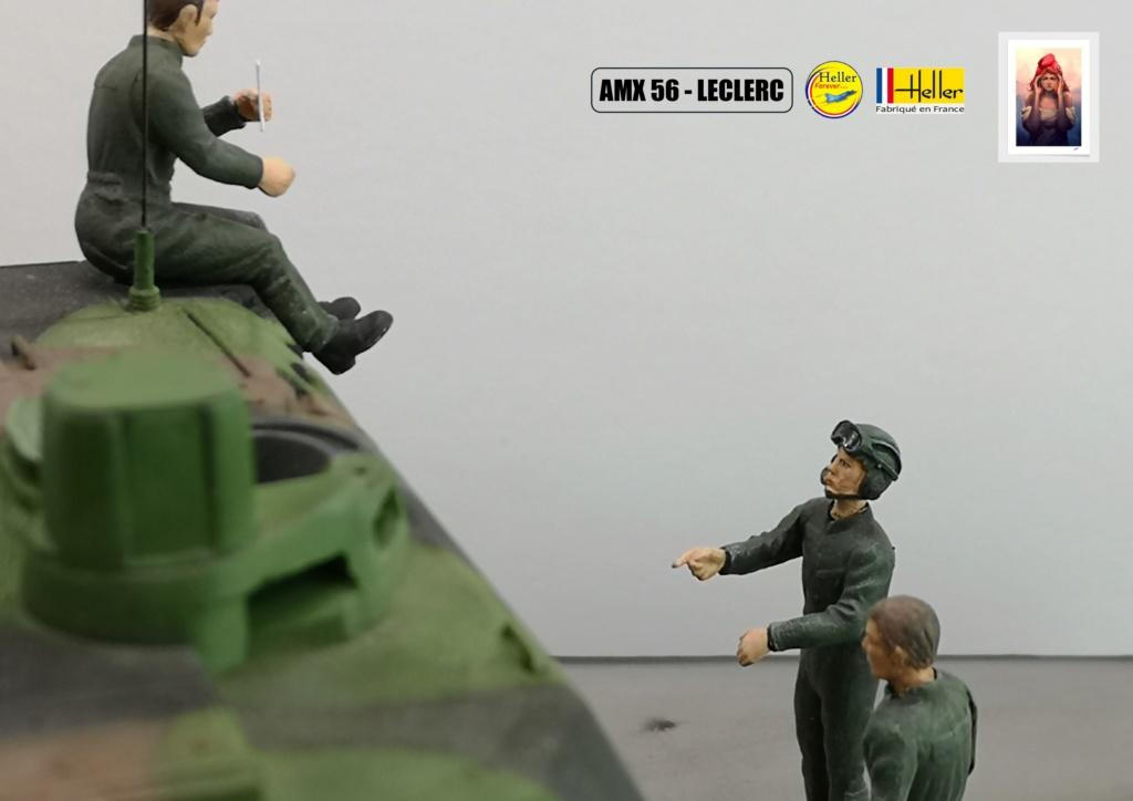 Char AMX 56 LECLERC SERIE 1 au pas de tir Réf 81135  Maquet90