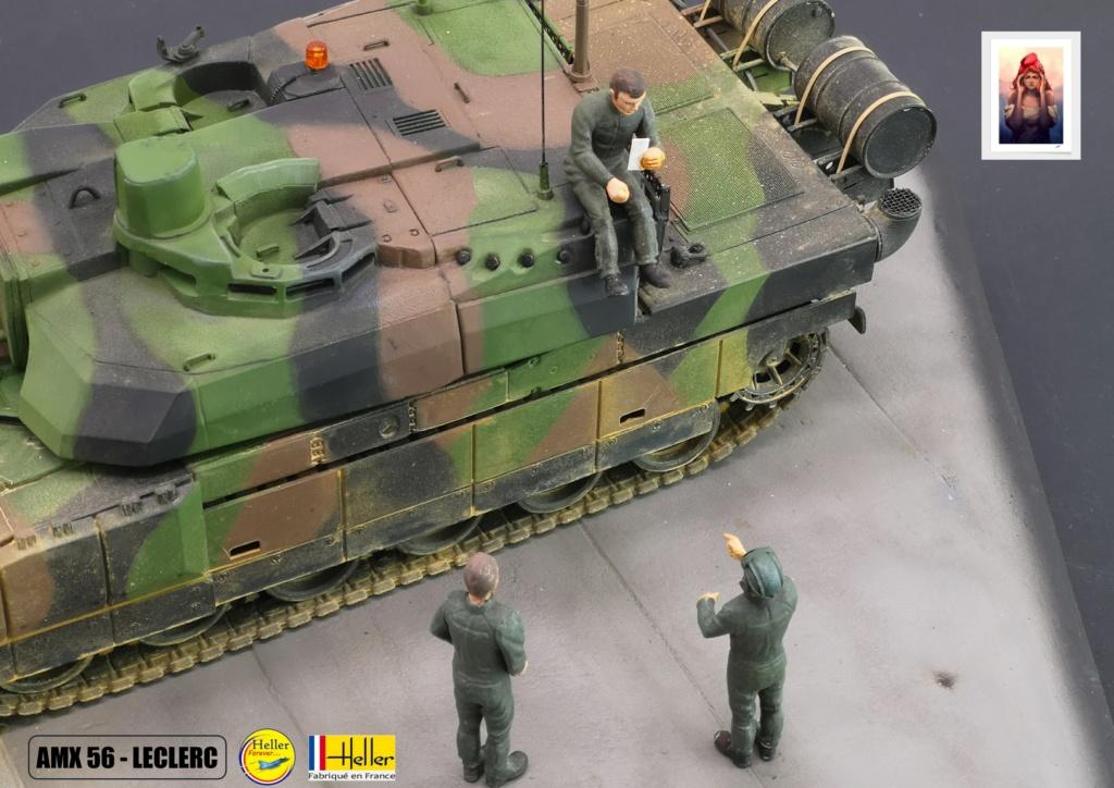 Char AMX 56 LECLERC SERIE 1 au pas de tir Réf 81135  Maquet91