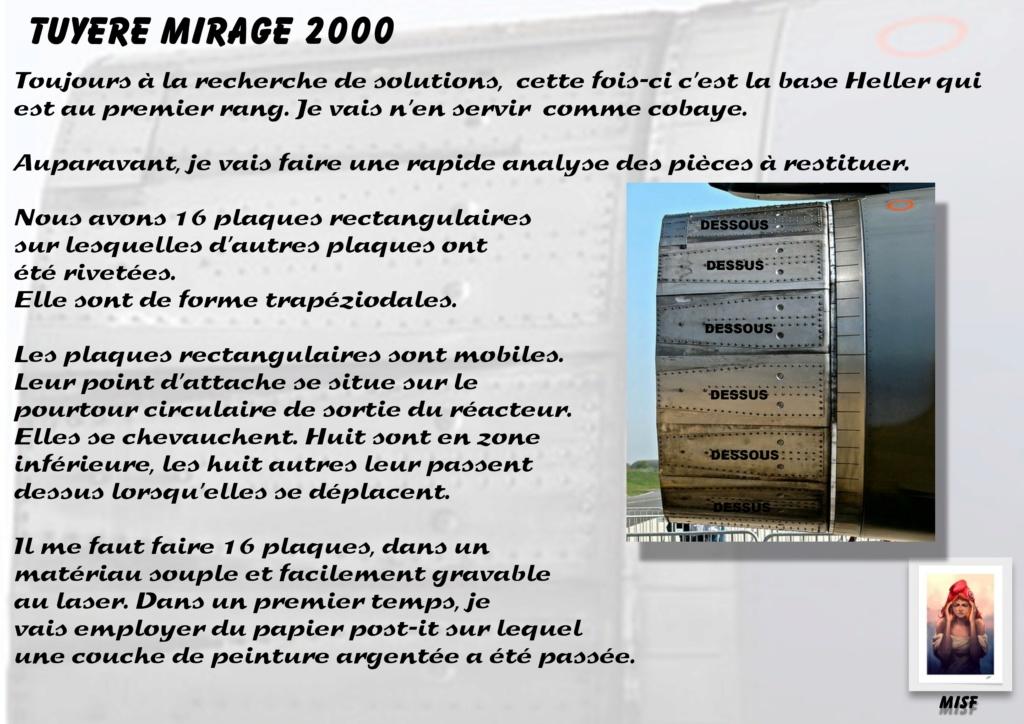 Tuyère Dassault Mirage 2000 - Scratch - Pour base Heller  Tuyere31